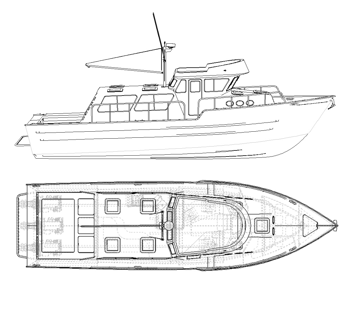 Aluminum catamaran power boat plans ~ Fibre boat